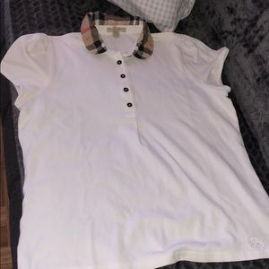 Collared white short sleeve shirt